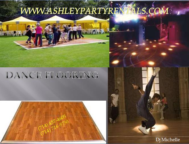 15' x 16; dance floor