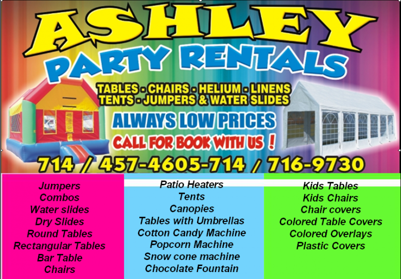 Ashley Party Rentals Home